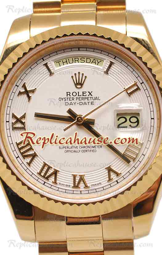 Rolex Replica Day Date II Gold Swiss Replica Watch 20