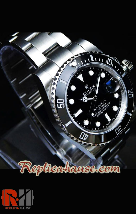 Rolex Submariner Black Swiss Model 2836