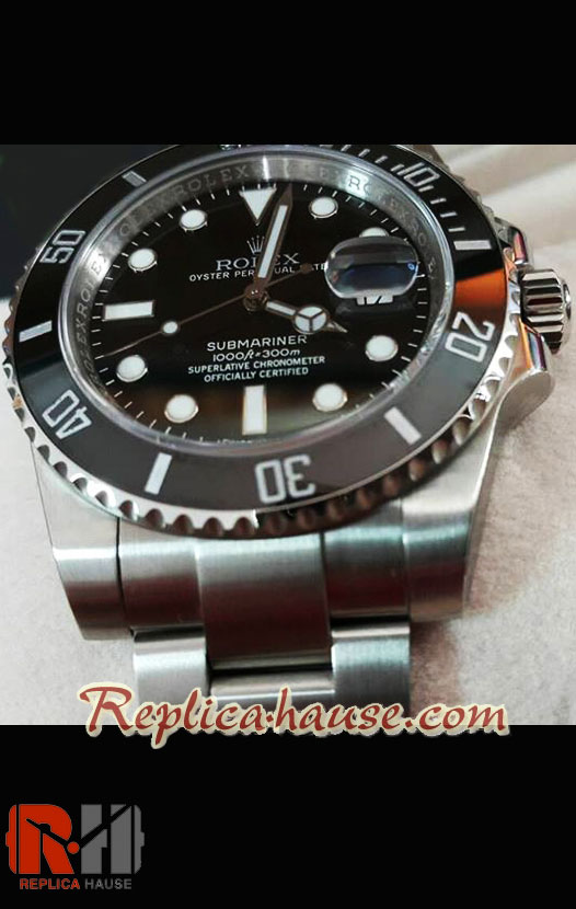 Rolex Submariner Black Swiss Model 3135
