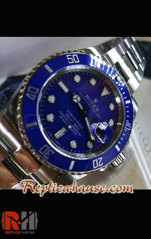 Rolex Replica Submariner Blue Swiss Replica Watch 2009 Edition 01