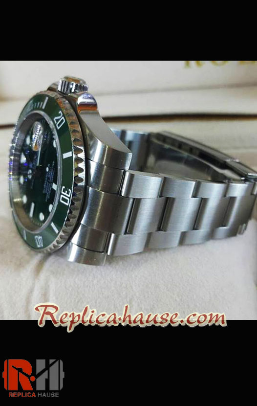 Rolex Replica Submariner Green Swiss Replica Watch 2010 Edition 20