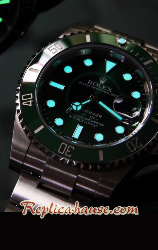 Rolex Replica Submariner Green Swiss Replica Watch 2018 Edition 20