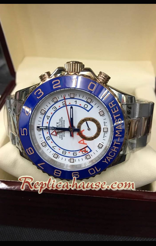 Rolex Yachtmaster II Two Tone Rose Gold Swiss Watch 06