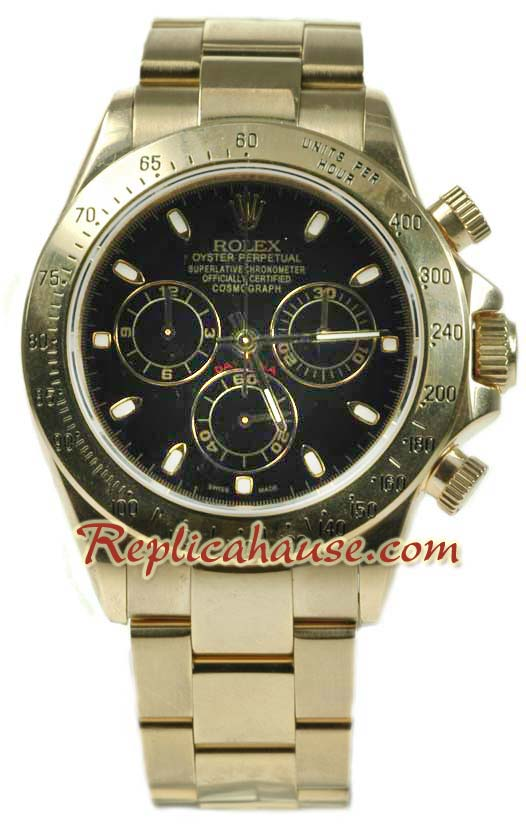 Rolex Replica Daytona Gold Swiss Watch 02