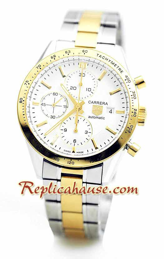Tag Heuer Carrera Two Tone Swiss Watch 01