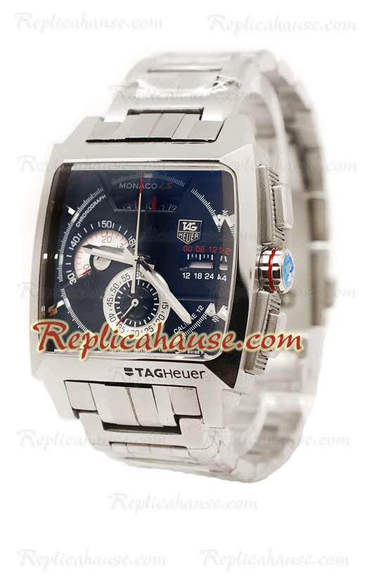 Tag Heuer Monaco LS Chronograph Calibre 12 Replica Watch 01