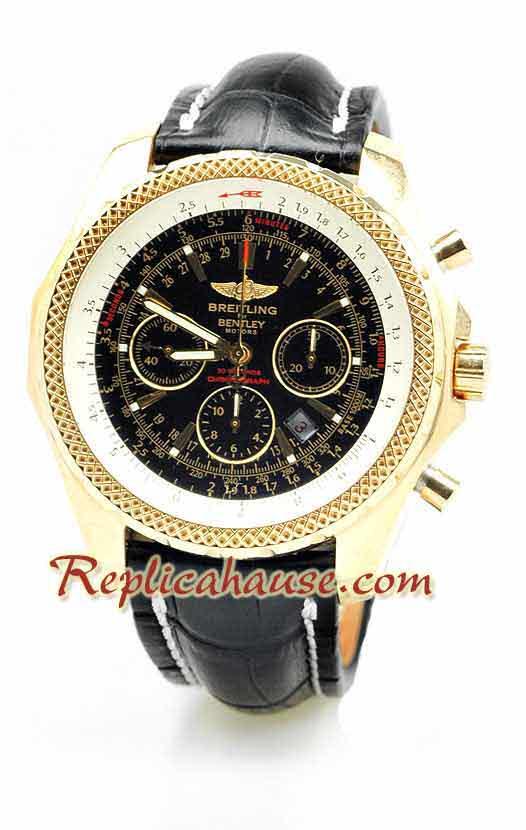 Breitling for Bentley Gold Swiss Replica Watch 5
