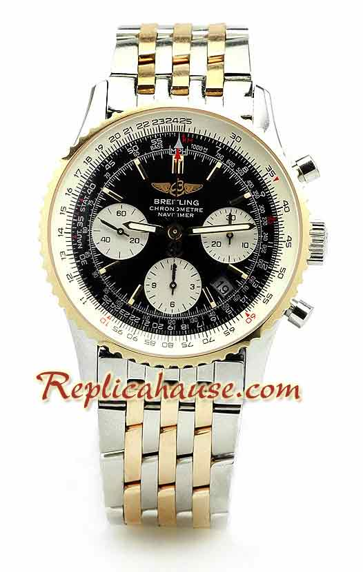 Breitling Navitimer Two Tone Swiss Watch 1