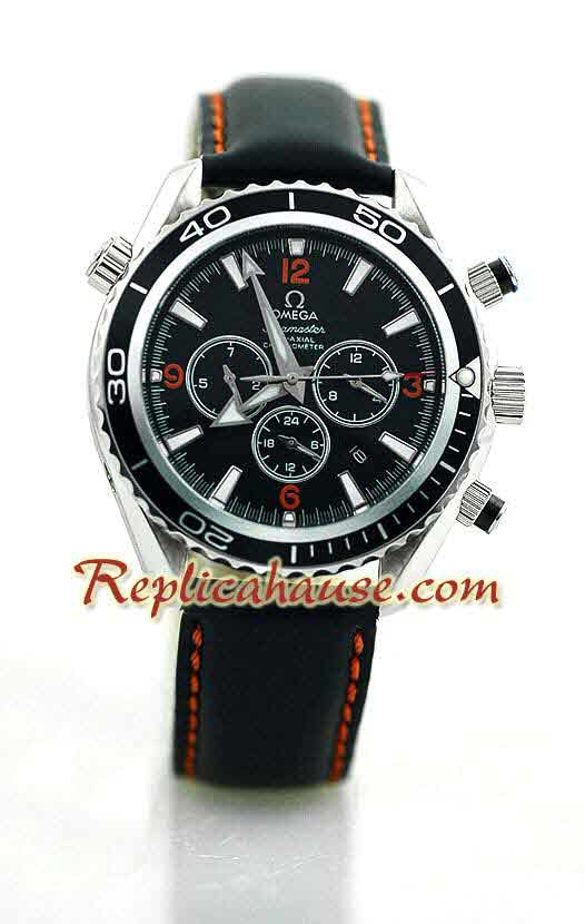 Omega Seamaster - Planet Ocean Leather Watch 12