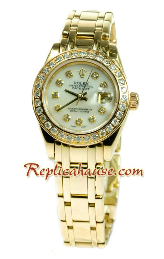 Rolex Replica Datejust Gold Ladies Watch 50