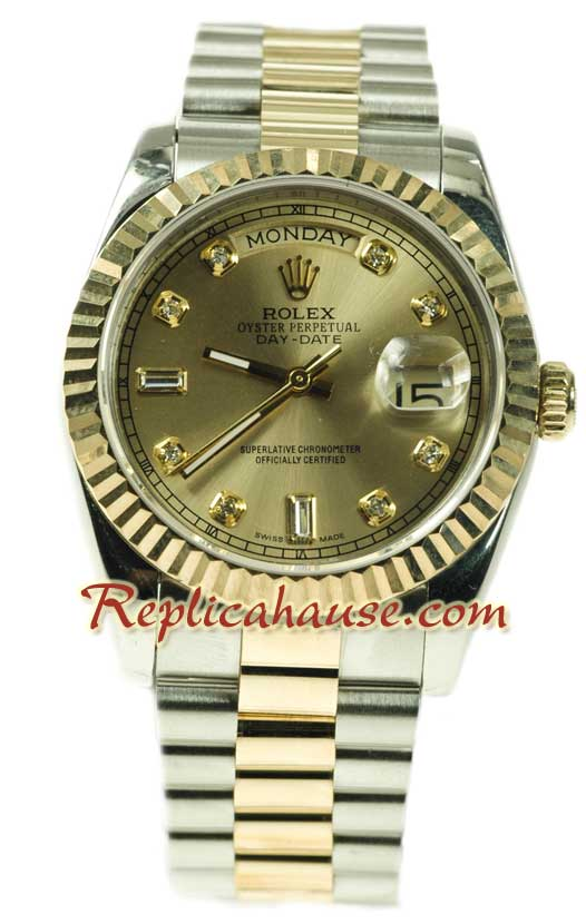 Rolex Day Date Two Tone Swiss Replica watch 06