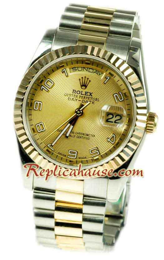 Rolex Day Date Two Tone Swiss Replica watch 07