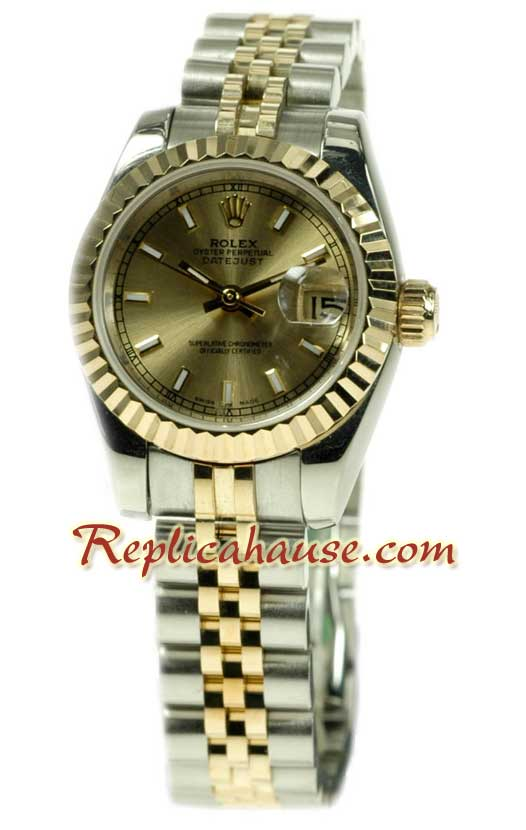 Rolex Replica Datejust Two Tone Ladies Watch 48