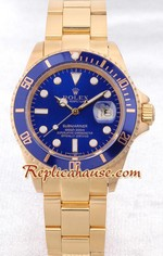 Rolex Submariner Gold Blue Face