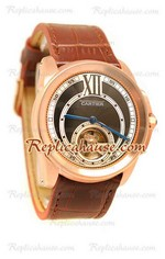 Calibre de Cartier Flying Tourbillon Replica Watch 04