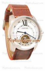 Calibre de Cartier Flying Tourbillon Replica Watch 08