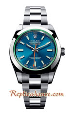 Rolex Replica Milgauss 2013 Z-Blue Swiss Watch 02