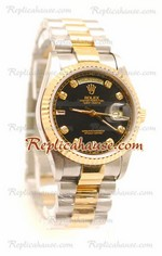 Rolex Replica Day Date Two Tone Swiss Watch 15
