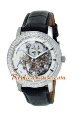 Vacheron Constantin Skeleton Automatic Diamond Markers with Silver Case-Leather Strap 2012 Replica Watch 05