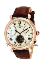 Vacheron Constantin Tourbillon Automatic Rose Gold Case with White Dial-18K 2012 Watch 1