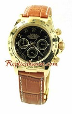 Rolex Replica Daytona Leather - Roman Hour Markers 01