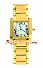 Cartier Tank Replica Watch - Mens - Gold