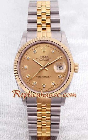 Rolex DateJust 2k - Pink Gold  - Swiss Watch 5