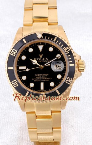 Rolex Replica Submariner Gold - Swiss Watch 1
