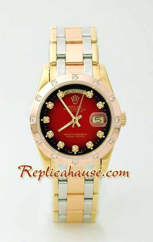 Rolex Replica Day Date Three Tone Watch 2