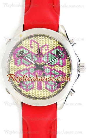Jacob & Co. The Five Time Zone Butterfly Swarovski Dial Replica Watch 01