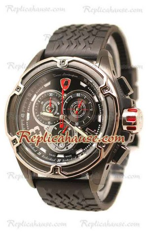 Lamborghini Mesh Chronograph Japanese Replica Watch 04