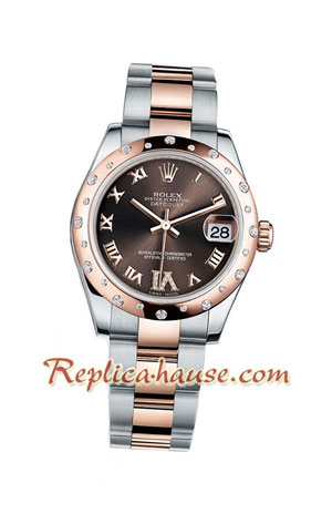 Rolex Replica DateJust Two Tone Ladies - 40