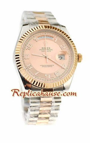 Rolex Replica Day Date Two Tone Swiss Watch 10