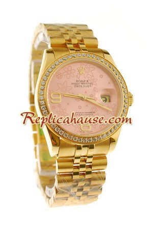 Rolex Swiss Replica Floral Motif 2010 Edition Datejust Watch 02