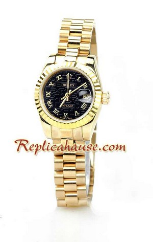 Rolex Replica Datejust Gold Ladies Watch 19