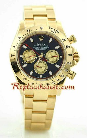 Rolex Daytona Gold Black Face 17