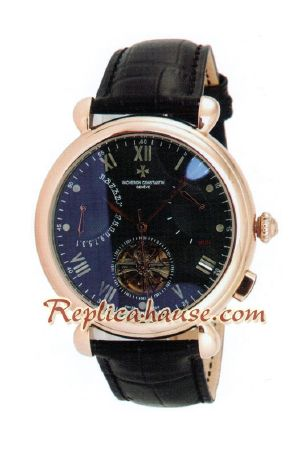 Vacheron Constantin Tourbillon Automatic Rose Gold Case with Black Dial-18K 2012 Watch 2