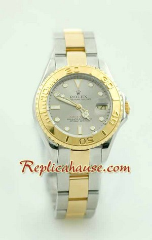 Rolex Yachtmaster Two Tone Ladies Size 8
