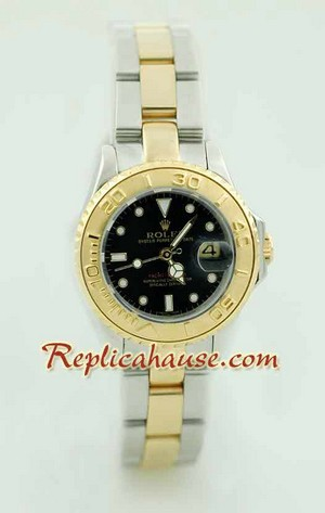 Rolex Yachtmaster Two Tone Ladies Size 7