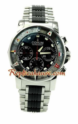 Corum Admirals Cup Chronograph Swiss Watch 01
