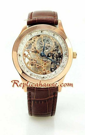 Jaeger LeCoultre Skeleton Swiss Replica Watch 4