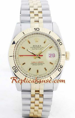 Rolex Datejust Turn O Graph Swiss Watch 5