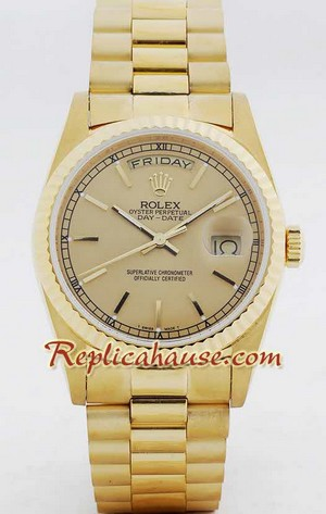 Rolex Day Date Gold Swiss Watch 2