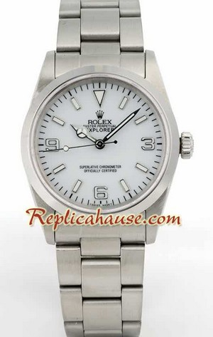Rolex Explorer White Face Mens