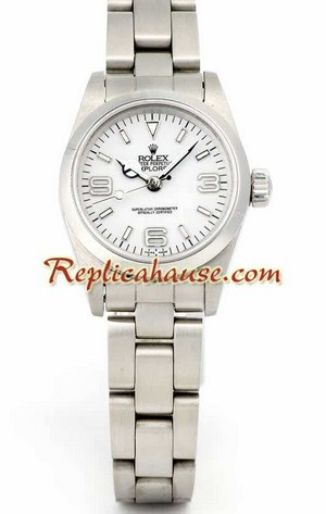 Rolex Explorer White Face Ladies