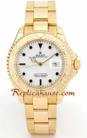 Rolex Yachtmaster Gold White Face 1